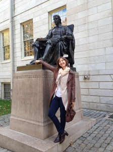 Axelle with John Harvard